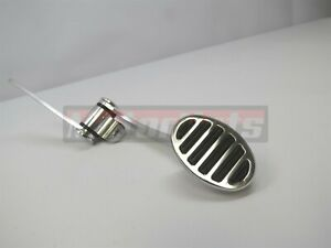 Billet Aluminum Oval Spoon Gas Throttle Pedal Hot Rod Rat Chevy Ford Cars Truck