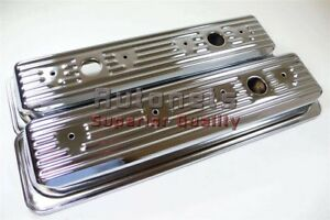 Sbc Chevy Chrome Steel 305 350 Center Bolt Valve Cover 87 Up 5 0l 5 7 Tbi Vortec