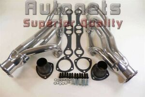 Sb Chevy Small Block Shorty Headers Ceramic Camaro Chevelle Bel Air Impala Nova