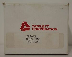 Triplett Analog Panel Meter 221 hr New