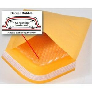 Superpackage 1000 0 6 5 X 10 Kraft Bubble Mailers Padded Envelopes Fit Dvd Cd