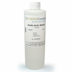 Nc 6077 Acetic Acid Glacial 16oz Weed Killer Solvent Cleaning Photo