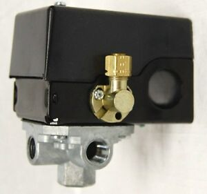 Air Compressor Pressure Switch W Unloader Valve 4 port 95 Psi On 125 Psi Off