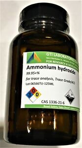 Ammonium Hydroxide 99 95 For Trace Analysis Trace Grade acs 125ml