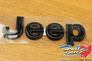 2011 2018 Jeep Wrangler Jk Black Jeep Replacement Hood Emblem Nameplate Mopar