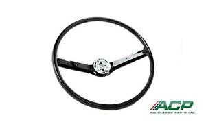 1968 1969 Ford Mustang Steering Wheel Std Type Black Color New Reproduction