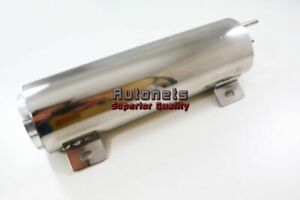 3 X10 Stainless Radiator Coolant Overflow Tank Reservoirs Twist In Cap Sbcbbc