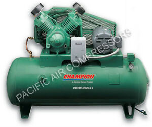 Champion Air Compressor Hrv10 8 10 Hp 80 Gal Three Phase Start stop 460 Volt