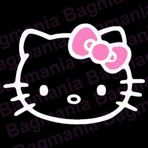 Hello Kitty You Pick The Bow Color Car Decal Ribbon Cute 5 5 X 3 875