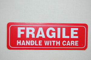 1x3 Fragile Stickers Self Adhesive Fragile Labels Handle With Care Stickers Usps