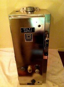Square D 60 Amp Stainless Steel Disconnect With Starter