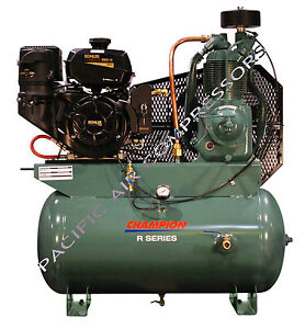 5f564 Champion Hgr7 3k 14hp 2 stage Gas Compressor 30 Galtank Mount Kohler