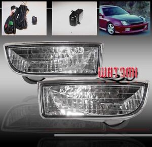 97 98 99 00 01 Honda Prelude Jdm Bumper Driving Chrome Fog Light Lamp Oem Switch