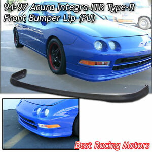 Tr Style Front Bumper Lip urethane Fits 94 97 Acura Integra 2dr