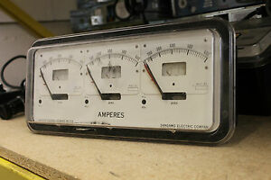 Antique Lincoln Thermal Demand Meter Triple Amperes Sangamo
