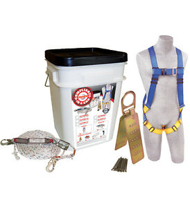 Protecta 2199803 Fall Protect Roof Anchor Harness Rope Grab 50 Lifeline