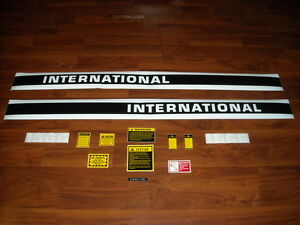International Ih 1566 Tractor Hood Decal Set With Caution Set