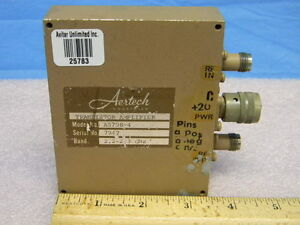 2 2 To 2 3ghz Aertech A5708 4 Transistor Amplifier 10db