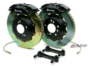 Brembo Rear Gt Brake 4piston C Caliper Black 345x28 Slot Disc Bmw E52 Z8 00 03
