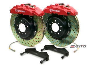 Brembo Front Gt Brake 8pot Red 380x34 Drill Escalade 02 06 Chevy Gmc 1500 00 06