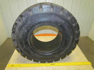 Watts 350x15 9 75 Solid Pneumatic Forklift Tire Deep Traction Tread New