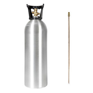 20 Lb New Aluminum Co2 Tank With Siphon Tube Cga 320 Valve Free Shipping