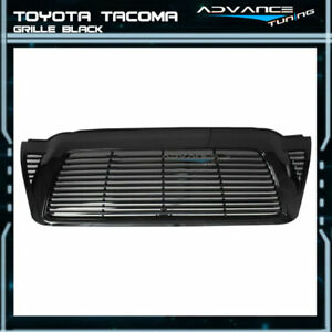 For 05 11 Toyota Tacoma Front Hood Grill Grille Unpainted Black Abs