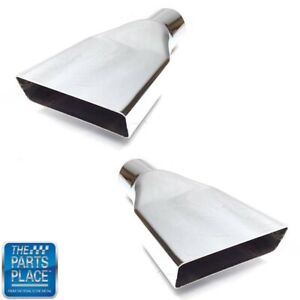 1970 72 Buick Skylark N 25 Chrome Rear Factory Exhaust Tips Pair