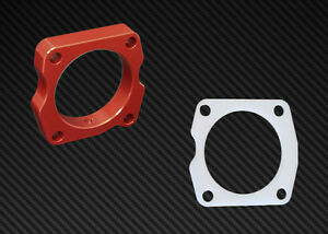 Ts Throttle Body Spacer Gasket Combo Red Acura Tl 2004 2007