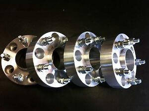 4 Jeep Wrangler Jk Or Rubicon Wheel Spacers 2 Hub Centric 5x5 To 5x5 6061 T6