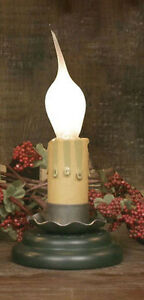 Farmhouse Cottage Primitive 2 Charming Light W Green Base Silicone Bulb