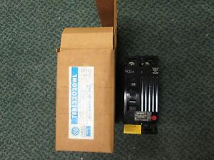 Ge Teb122020wl 20a 2p 240vac Circuit Breaker New Surplus