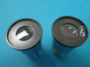 Lot Of 2 Tiyoda W10x 10 X Eye Piece Japan Microscope