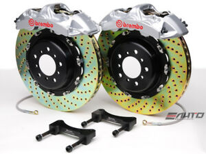 Brembo Front Gt Brake Bbk 6piston Silver 380x32 Drill Disc Rotor Ford Gt 04 06