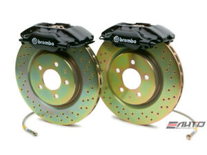 Brembo Front Gt Brake Bbk 4piston Black 330x28 Drill Disc Rotor Mustang 94 04
