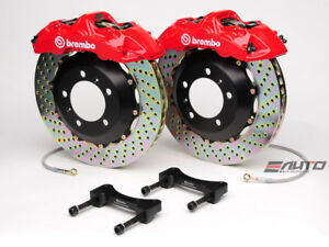 Brembo Front Gt Brake Bbk 6piston Caliper Red 355x32 Drill Disc Mustang 94 04