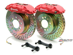 Brembo Front Gt Brake Bbk 4piston Red 355x32 Drill Disc Rotor Mustang 05 13