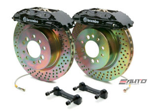Brembo Front Gt Brake Bbk 4piston Black 355x32 Drill Disc Rotor Mustang 05 13