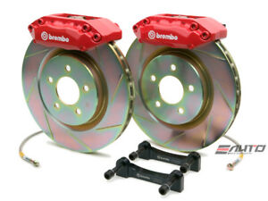 Brembo Front Gt Brake Bbk 4piston Red 355x32 Slot Disc Rotor Mustang 05 13