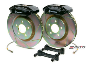 Brembo Front Gt Brake Bbk 4piston Black 355x32 Slot Disc Rotor Mustang 05 13