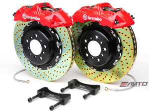 Brembo Front Gt Brake Bbk 6pot Red 380x32 2pc Drill Disc Rotor Mustang 05 13