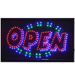 Large Animated Led Neon Business Open Sign W motion On off Switch 21 X13 013