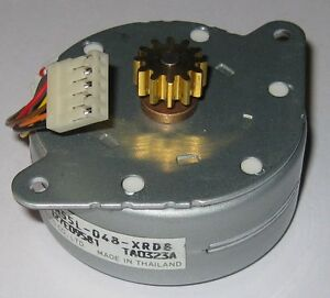 Nmb Stepper Motor With Brass Gear 24v Pm55l 048 Permanent Magnet Motor