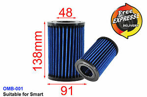 High Flow Drop In Stock Replacement Simota Air Filter For Smart 450 99 07