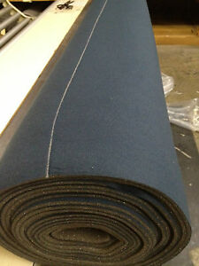 Auto Headliner Upholstery Fabric With Foam Backing 120 X 60 Dark Blue