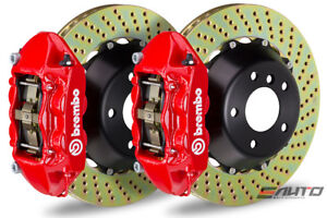 Brembo Front Gt Brake 4p Caliper Red 365x29 Drill Rotor Lancer Ralliart Gts 09