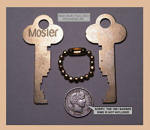 Safe Deposit Box Keys Mosler Oem Matched Set Of Two Factory cut Keys