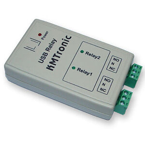 Kmtronic Usb 2 Relay Controller Rs232 Serial Controlled Box