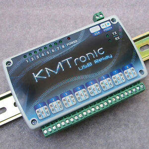 Kmtronic Usb 8 Channel Relay Board Din Rail Microchip Cdc