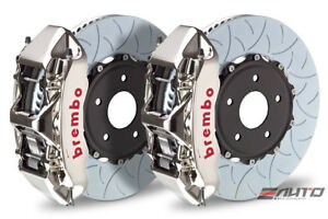 Brembo Front Gt Brake 6pot Caliper Gt R 350x34 Type3 Slot Disc For Sti 05 14